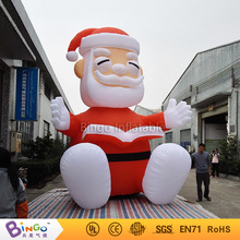 outdoor party events 16Ft. giant inflatable Christmas santa cartoon sitting Christmas decoration-16Ft.-5M high toy