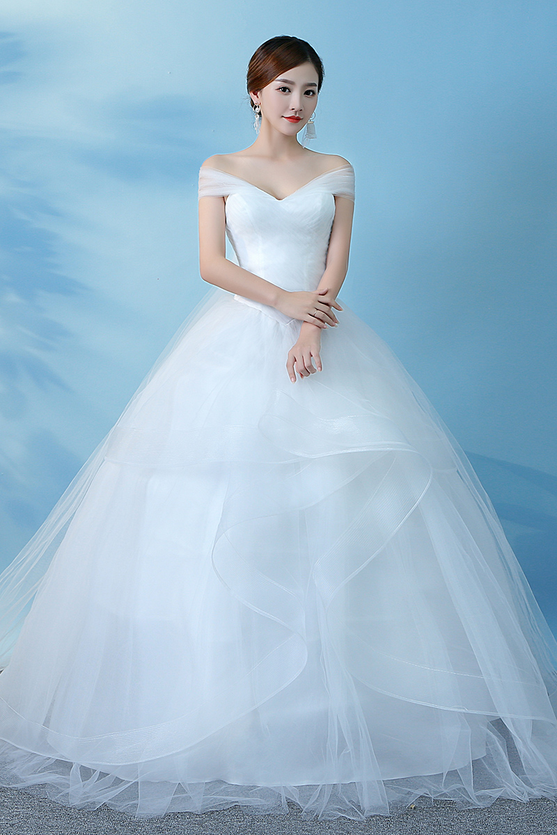 Beauty Emily Real Pictures Wedding Dresses 2018 Ball Gown Bridal ...