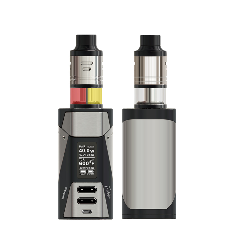 все цены на New EHPRO 2-in-1 Fusion Kit Work Mode TEMP/PWR/TCR/BYPASS No Dual 18650 Battery TC Mod 200-600F 100-300C