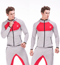 Morning Exerciser Running Hoodies Male Bodybuilding Fitness Hoodies Sweatshirts Muscle Men's Comprehensive Training Sweater