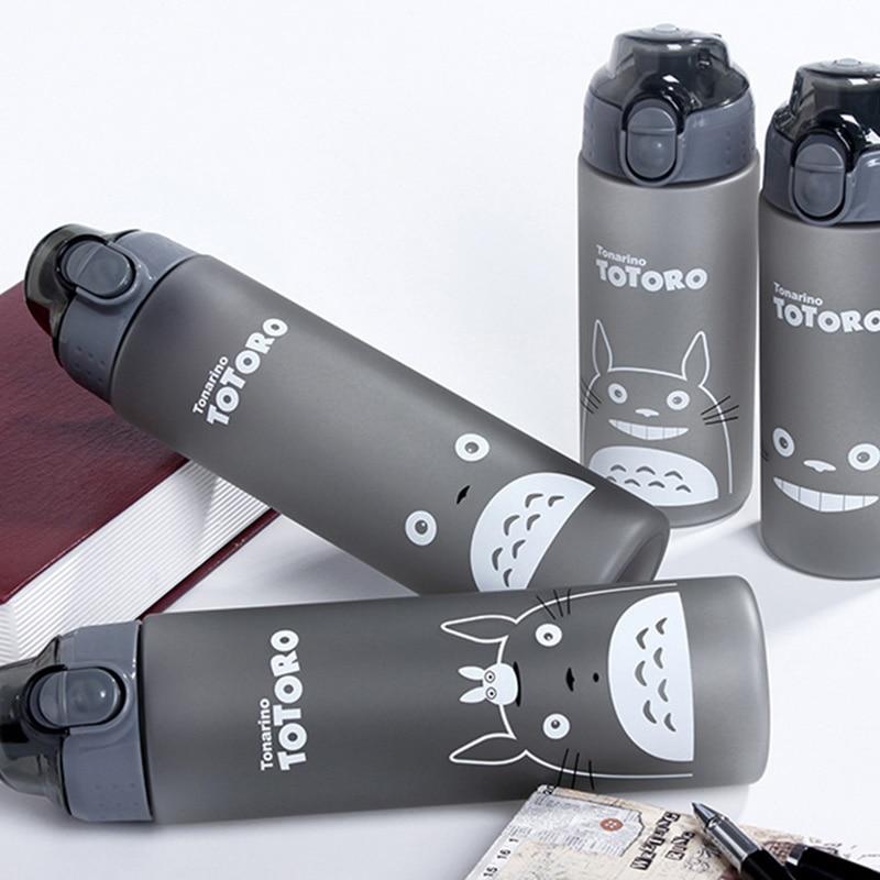 Alta Calidad 500 ml/700 ml Deportes Botella de Agua de Plástico Gato de Dibujos