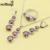 Mujeres de la manera Maravillosos Sistemas de La Joyería de Plata 925 Seductor Negro Cubic Zirconia Anillo Del Pendiente Del Collar Colgante De Caja de Regalo