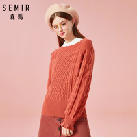 SEMIR O Neck Knitted Sweater Women Clothing Autumn 2018 Office Ladies Jumper Long Sleeve Women Sweaters And Pullovers