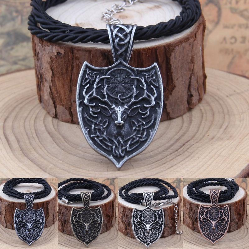 Yage 1pcs θρυλικό Viking Aegishjalmur κολιέ - Κοσμήματα μόδας - Φωτογραφία 2