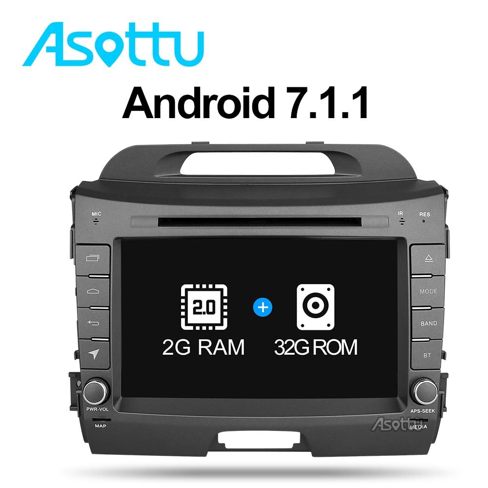 Asottu zzp8060 2 г + 32 г Android 7.1 dvd-плеер автомобиля для Kia Sportage 2011 2012 2013 2014 2015 стерео головного устройства gps-навигации