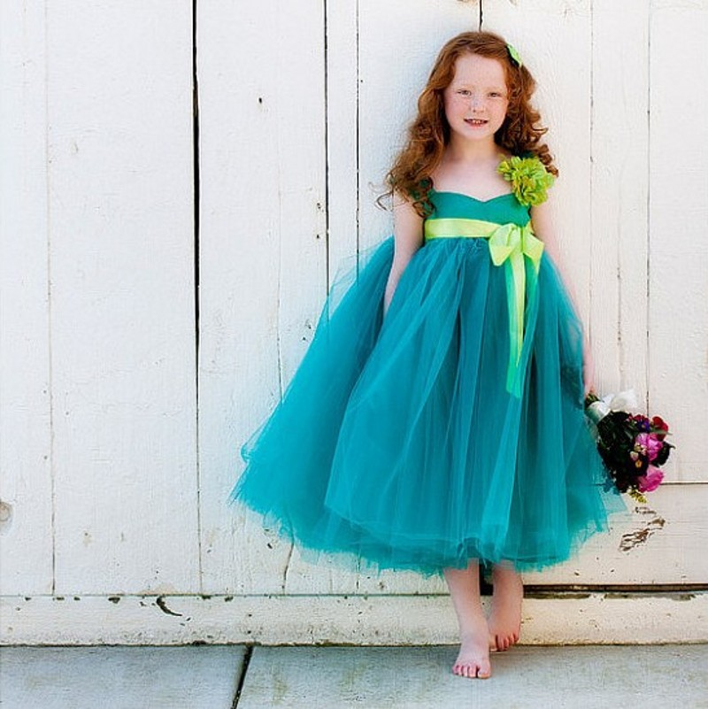 High Couture Elegant Bow Kids Beauty Pageant Flowergirls Prom   Dress   Children   Girls   For Wedding Lime Green   Flower     Girl     Dresses