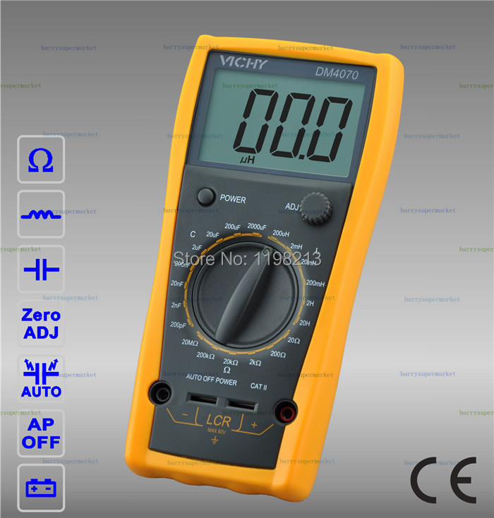 New DM4070 Digital Multimeter 3 1/2 20H 2000uF self-discharge inductance resistance capacitance LCR Meter new style victor digital multimeter 20a 1000v resistance capacitance inductance temp vc9805a