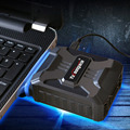 ЮЭ ПЕСНЯ V6 Охладитель Выхлопных Cool Fan ЖК-Низкий Уровень Шума Pad мини Вакуумные USB Охладитель Воздуха Извлечение Турбо Радиатор для Ноутбука Notebook