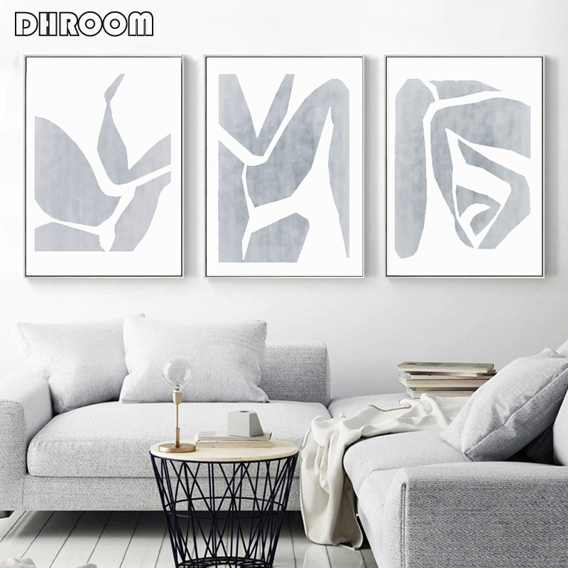Gray Abstract Set Of 3 Wall Art Sexy Canvas Painting Minimalist Modern Artwork Wall Picture Bedroom Poster Couple Art Decoration Painting Calligraphy Aliexpress