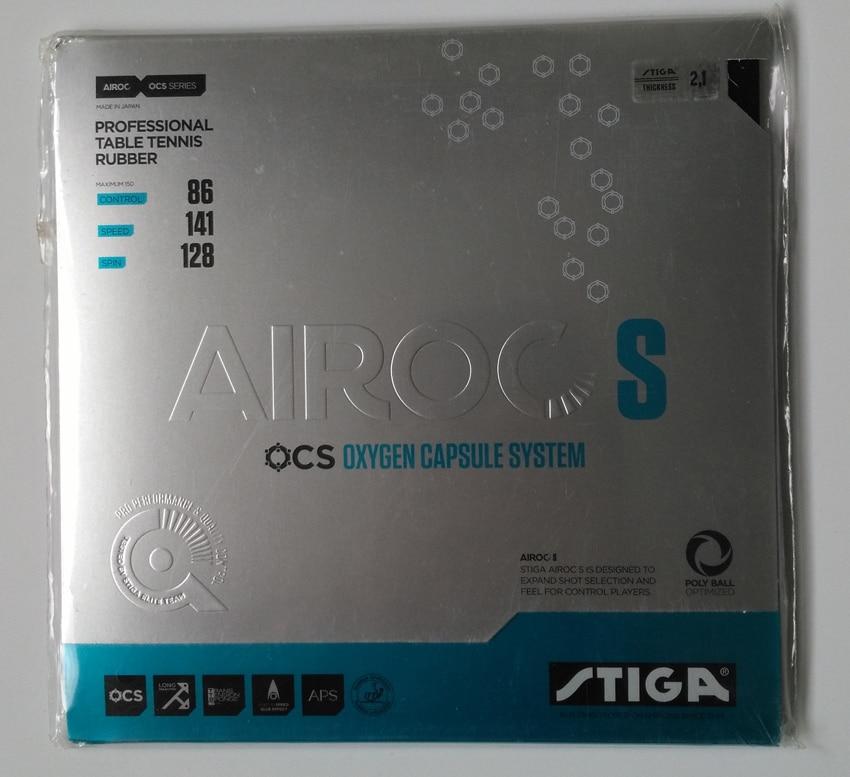أصلي Stiga AIROC-S AIROC S تنس الطاولة المطاط البثور في ضربة خلفية المسيل للدموع مرونة stiga مضارب تنس الطاولة