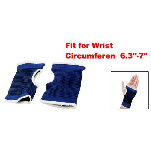 New 1Pair Palm Wrist Hand Support Glove Elastic Brace Sleeve Sports Bandage Gym Wra