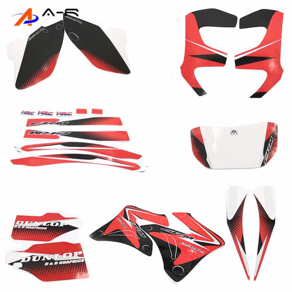 1994 - 2015 For Honda CRM250 R CRM250R CRM 250 R 250R Graphic Kit Sticker Fuel Tank Decal Gas Tank Decals Cover Protector Label
