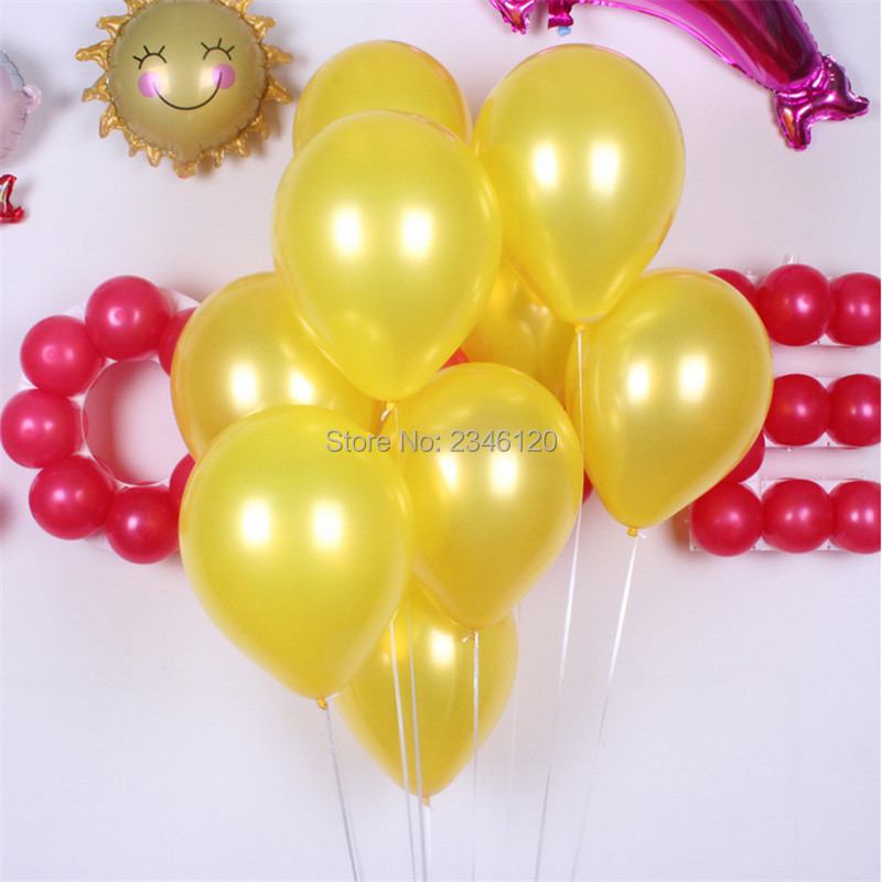 100pcs 1.8 grams pearl globos 10 inch thick balloon round latex balloons Wedding