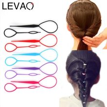LEVAO 2PCS/Lot New Solid DIY Hair Styling Headbands For Girls Hair Pin Disk Pull Pins Hair Bands Headwear Kids Hair Accessories(China)