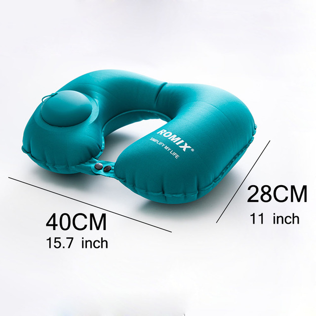 Inflatable Pillow 4 Piece Set Travel Cervical U-type Automatic Inflatable Folding Portable Accessories 2