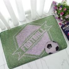 World Flag Football Carpet Area Rrug For Living Room Carpets For Parlor 3D Carpets Fleece Fabric Non-Slip Door Mats tapete 50×80