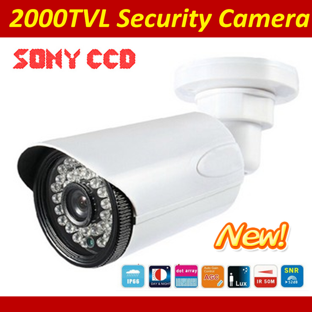 2000TVL Bullet Surveillance Security CCTV Bullet Camera Indoor Outdoor With IR Cut And High Resolution bullet camera tube camera headset holder with varied size in diameter