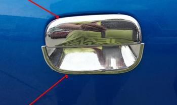 สูงกว่า star ABS โครเมี่ยม 4 pcs ประตูรถตกแต่งป้องกัน + 4 pcs ประตูชามสำหรับ Suzuki alto, pixo, 2009-2015