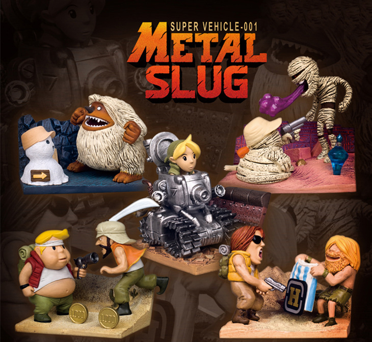 Hot Sale Japan Arcade Game Metal Slug Hostage Wendigo Metal Slug Fatty Mummy PVC Figure Toys Model Toys