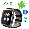 Lemado x01s smart watch android 5.1 os 1.54 polegada 3g Smartwatch Telefone MTK6572 1.3 GHz Dual Core GPS Gravidade relógio Pedômetro telefone
