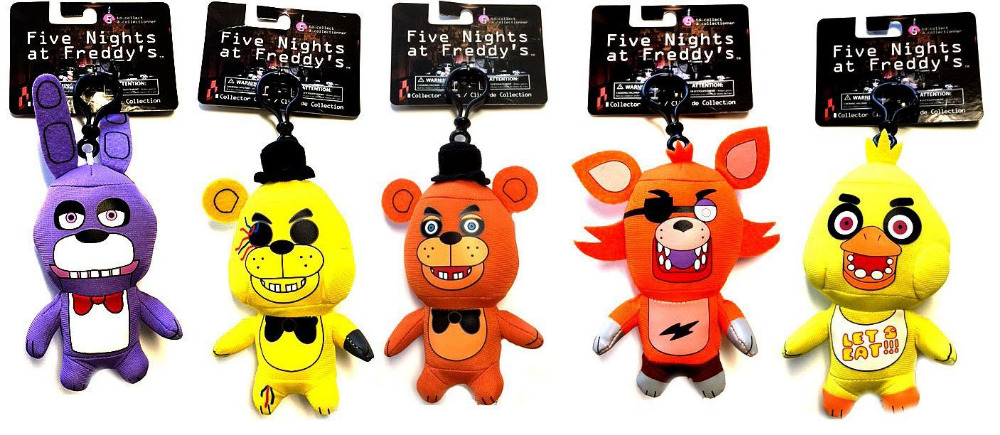 5 pcs/lot 15cm Five Nights at Freddy's Plush Toy FNAF 5cm Pendant Fazbear Bear Foxy Toys Kids Collection Pendant Gift