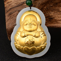 Gold Jade Pendants Jewelry White Green Chinese jade pendant for Men Good Gift 2019 dropshipping jewelry suppliers usa jewelry