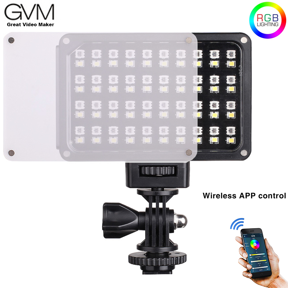 GVM RGB 7S Portable Pocket RGB Full Color LED Video Light CRI 95 