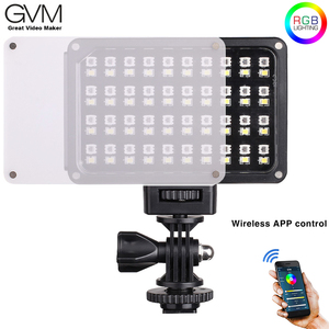 Image 1 - Портативный карманный светодиодный видеосветильник GVM, RGB, полноцветный, CRI 95 +, двухцветный, 2000 5600K, встроенный аккумулятор, для Sony Canon