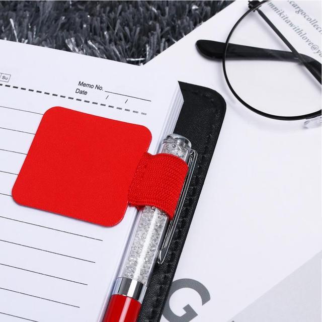Bút Clip Tự dính Phụ Kiện Vòng Đàn Hồi Phong Cách Đơn Giản Da Bút Chủ Bút Chì hoặc Máy Tính Xách Tay Tạp Chí Clipboards Bút Giữ