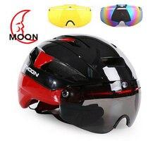 Велосипедный шлем moon 3 линзы aero tt спортивные очки для горных
