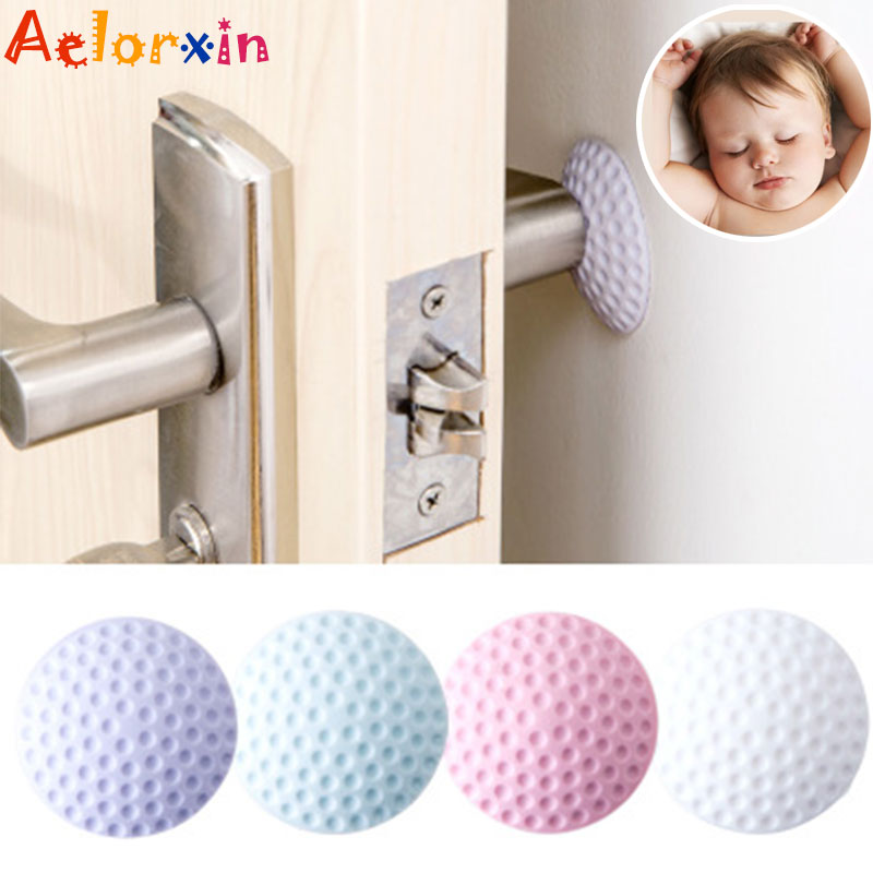 4Pcs/Lot Protection Baby Safety Shock Absorbers Security Card  Door Stoppers Wall Protectors Door Handle Door Lock For Children