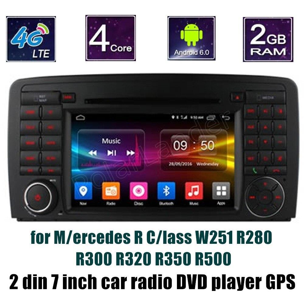 Lecteur DVD de voiture android 6.0 pour B-ENZ R C/indeau W251 R280 R300 R320 R350 R500 Radio stéréo Navigation GPS
