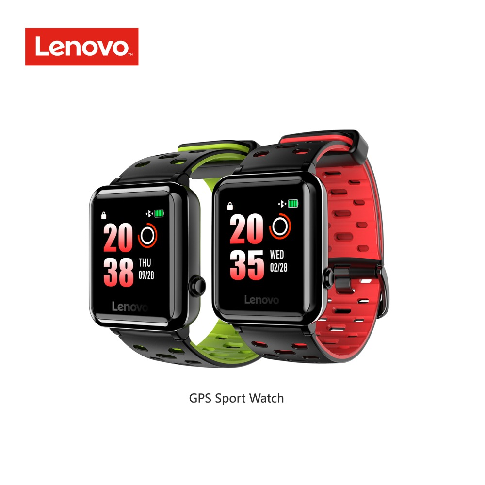 Lenovo smart watch Fitness Tracker GPS Sports 1 28 Memory color LCD Heart Rate 5ATM 30days