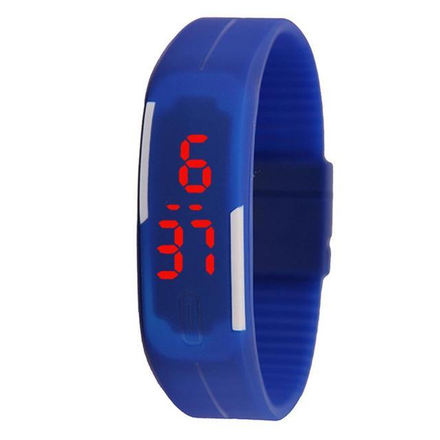 LinTimes Fashion Children LED Electronic Bracelet Touch Screen Wrist Watch Perfe