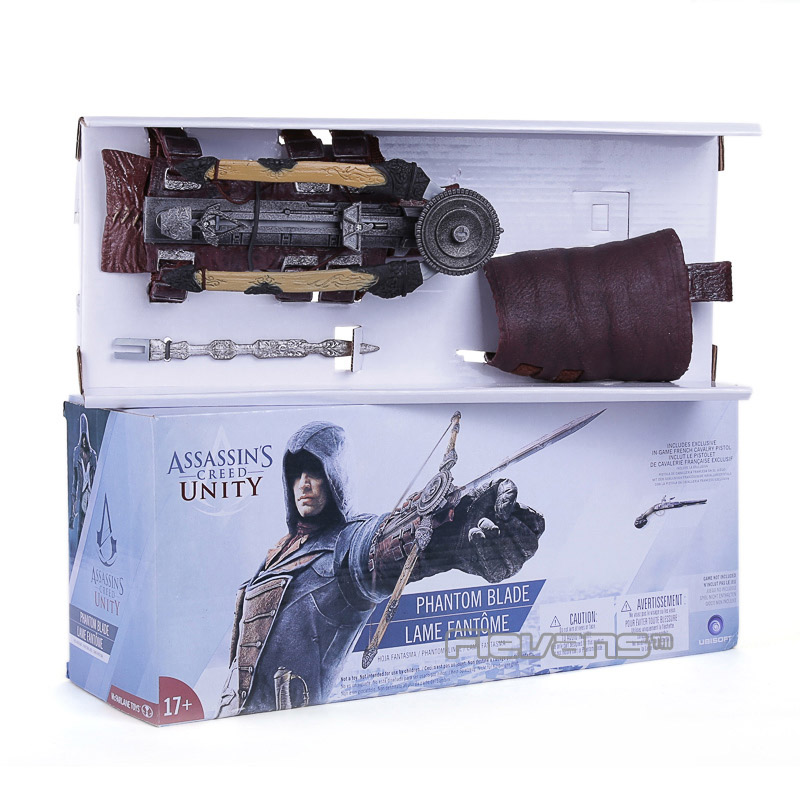 Assassins Creed 5 Unity Hidden Blade Action Figure Edward Kenway Cosplay Costume New in Retail Box assassins creed hidden blade assassins creed unity phantom bladecrossbow pirate hidden blade edward kenway cosplay anime w189