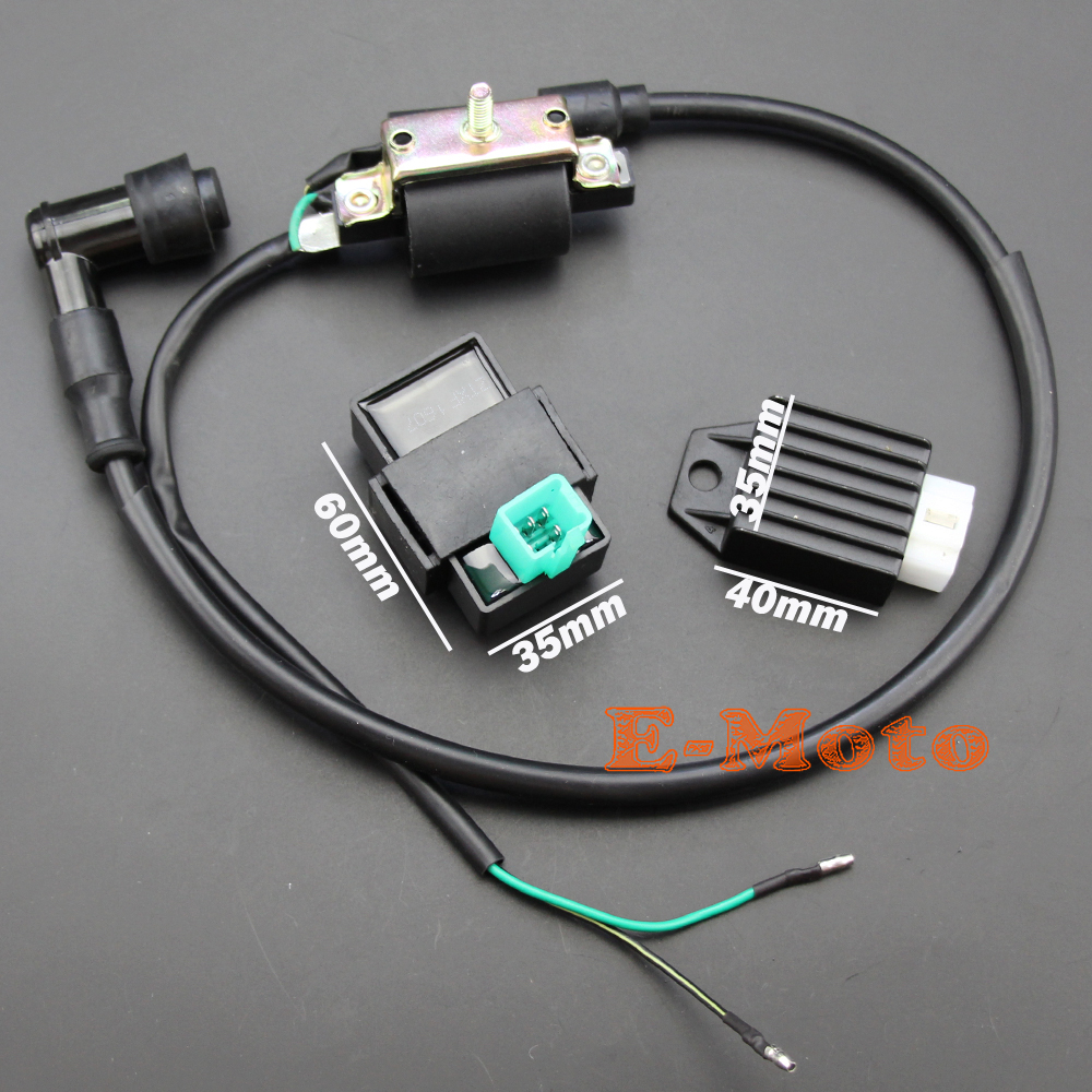 Ignition Coil Cdi Box Regulator Rectifier For 50cc 70cc 90cc 110cc Gy6 200cc Chinese Atv Wiring Quad Peach Eagle Kazuma Jcl Taotao Free Shipping In Motorbike Ingition From