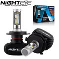 NIGHTEYE H4 9003 HB2 50W 8000LM 6500K CSP LED Car Headlight Conversion Kit Fog Lamp Bulb DRL Auto Car Led Lights