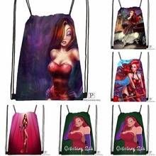 Custom Jessica Rabbit Final Smlfram Drawstring Backpack Bag Cute Daypack Kids Satchel (Black Back) 31x40cm#180531-03-43