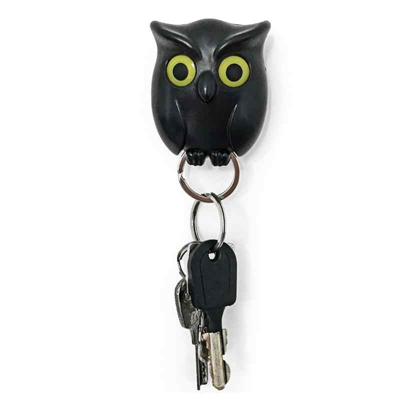 1 PCS Black Night Owl Magnetic Chave Parede Titular Ímãs Manter Chaveiros chave titulares