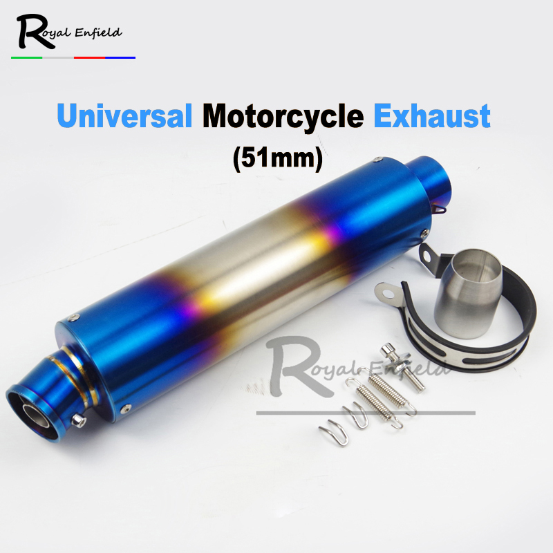 51mm Universal over exhaust Motorcycle Exhaust Muffler Pipe Scooter for GY6 Exhaust CBR125 FZ400 Z750 R1 R3 R651mm Universal over exhaust Motorcycle Exhaust Muffler Pipe Scooter for GY6 Exhaust CBR125 FZ400 Z750 R1 R3 R6