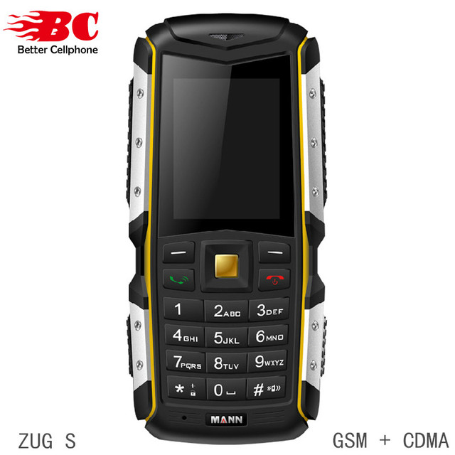 Оригинал MANN ZUG S Мобильный Телефон Пыле Противоударный Прочный Открытый Камера Bluetooth GSM WCDMA Dual Sim-карта Дешевые Сотовые Телефоны