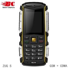 Originales MANN ZUG S Teléfono Móvil A Prueba de Polvo a prueba de Choques Resistente Al Aire Libre Cámara Bluetooth GSM Tarjeta Sim Dual Barato Teléfonos Celulares Senior