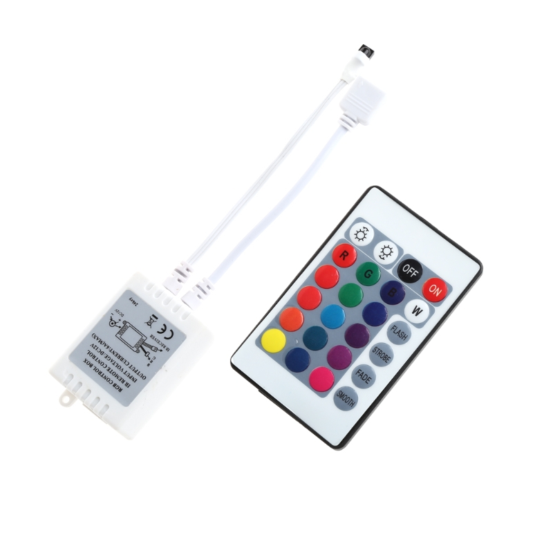 YAM LED 24 Keys IR Remote Controller Wireless For 3528 5050 RGB SMD Strips New ...