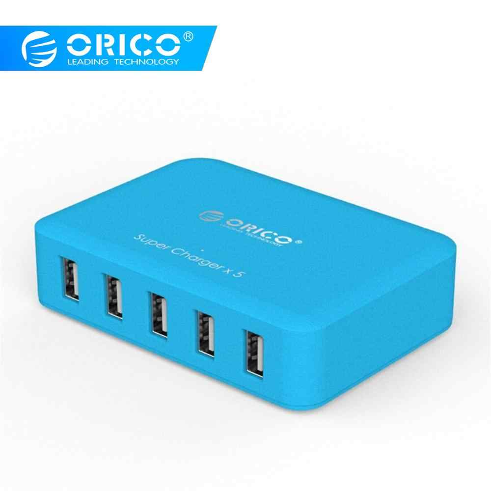 Orico 5 Port 5 V/2.4A 40W Usb Desktop Charger Micro USB Supercharger untuk Ponsel Pad Universal Ponsel