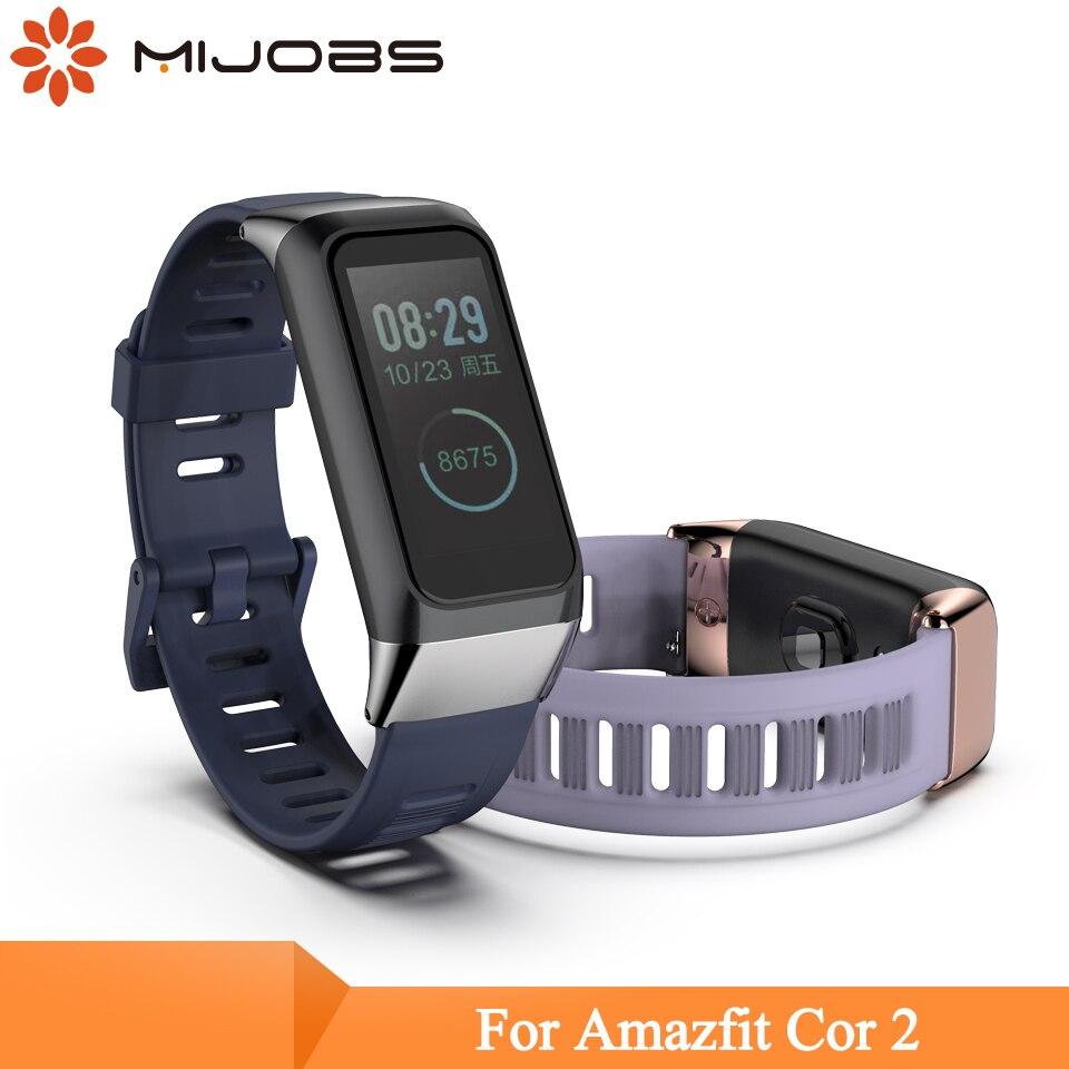Strap For Huami Amazfit Band Cor 2 Smart Watch Band Bracelet Silicone Wrist Strap For Amazfit Cor 2  Wristbands English Version