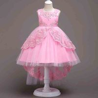 Wedding Dress 2019 Party Dresses For Girls Pink Princess lol Dress Show Kleider Cinderella Elegant Frocks Girls Clothes 12 Year