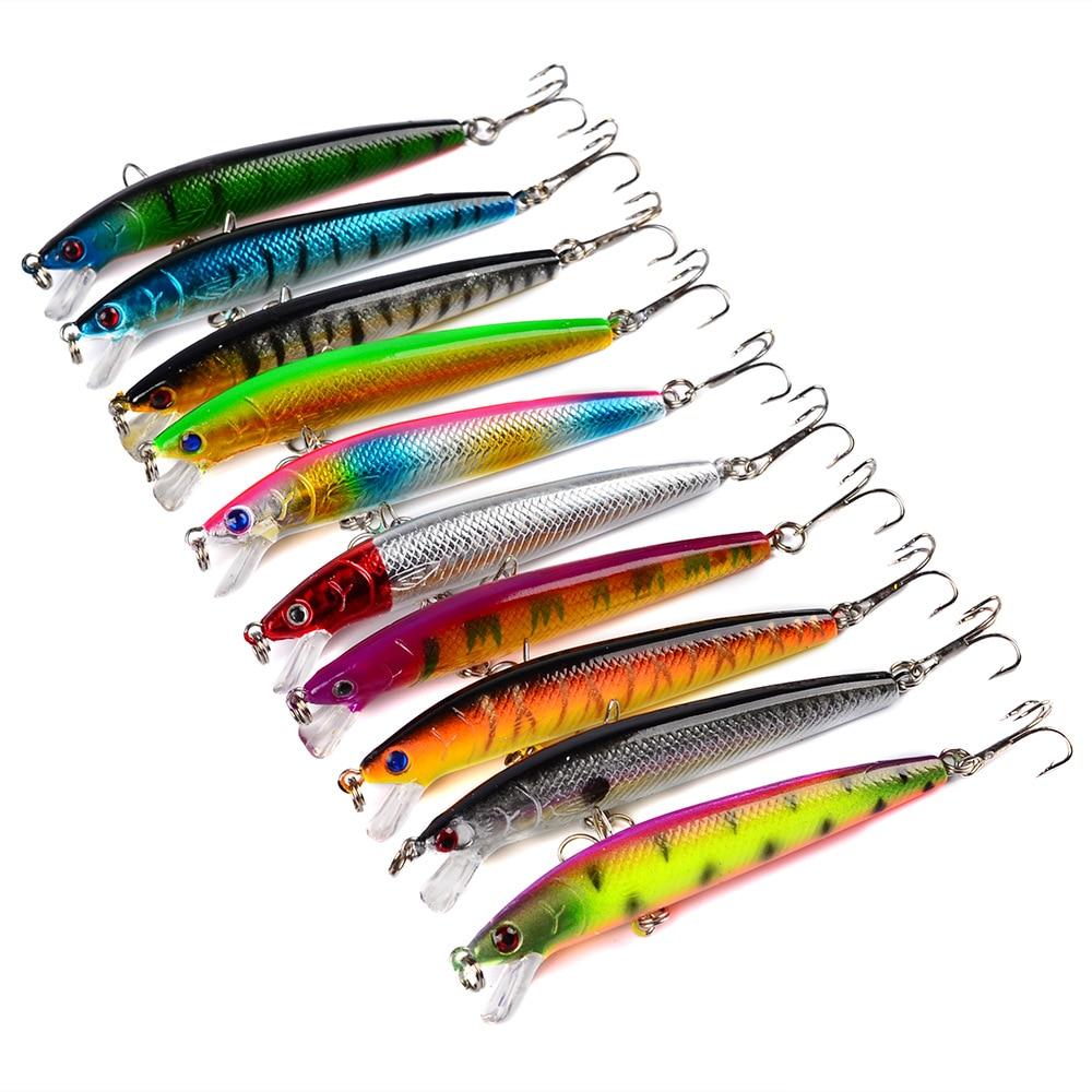 1PCS Minnow Fishing Lure 7.7g9.5cm 6#Hooks Fish Wobbler Tackle Crankbait Artificial Japan Hard Bait Swimbait Isca Artificial L20 wldslure 1pc 54g minnow sea fishing crankbait bass hard bait tuna lures wobbler trolling lure treble hook