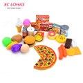 32 шт./компл., набор игрушечной еды, комплект детских игрушек Еда, игрушечная пицца, игрушечная модель еды, детские игрушки, образовательные игрушки для детей, быстрая доставка