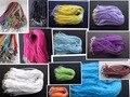 10 unids/lote 17 - 19 pulgadas ajustable colores surtidos Organza de la cinta collar con corchete de la langosta para joyería de DIY que hace