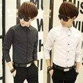 Мужские Рубашки Мода Марка Clothing Длинным Рукавом Burderry Camisas Hombre Vestir Повседневная Slim Fit Мужская Сорочка Homme топы